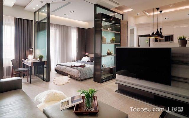 45平米二房一厅装修图客厅空间