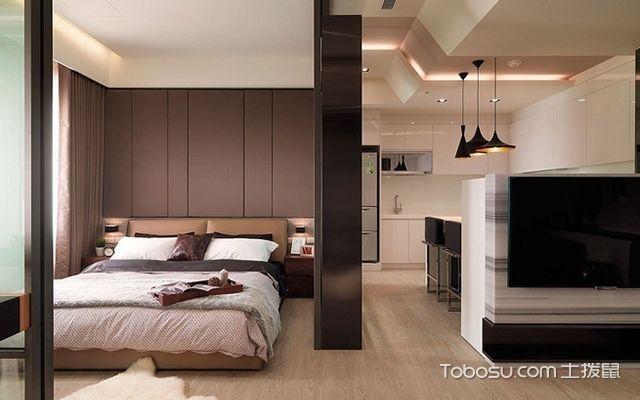 45平米二房一厅装修图全屋空间