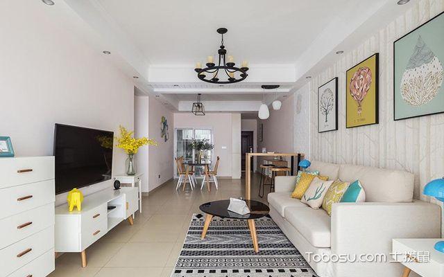 95平米三室两厅装修—客厅空间