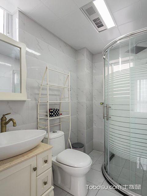 95平米三室两厅装修—卫生间