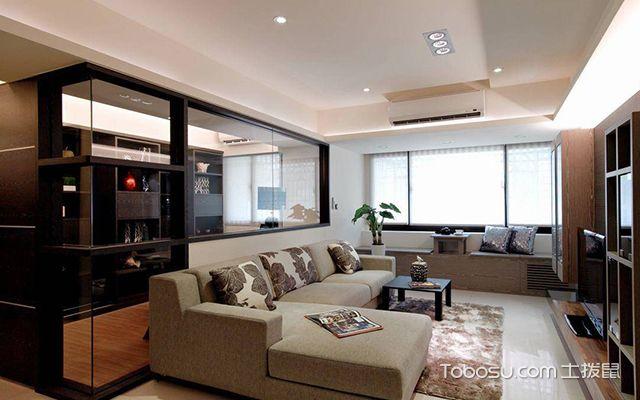 60平米二房一厅装修案例图客厅