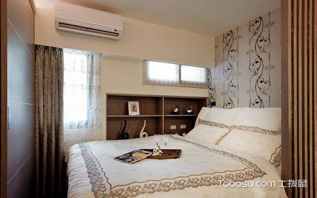 60平米二房一厅装修案例图卧室