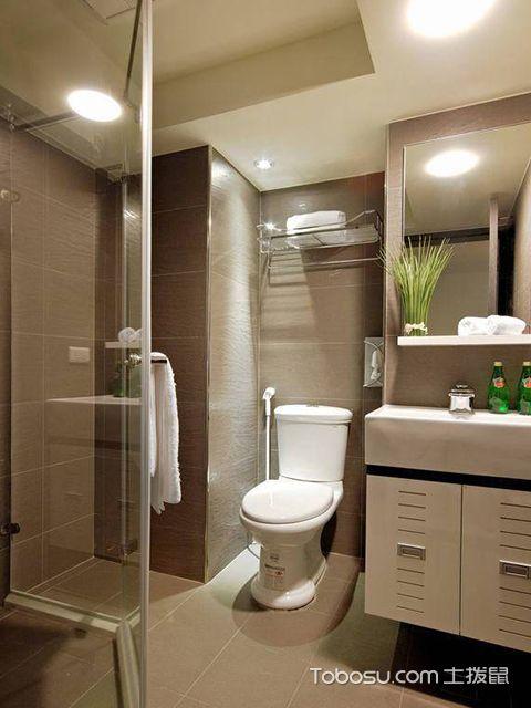 60平米二房一厅装修案例图卫生间