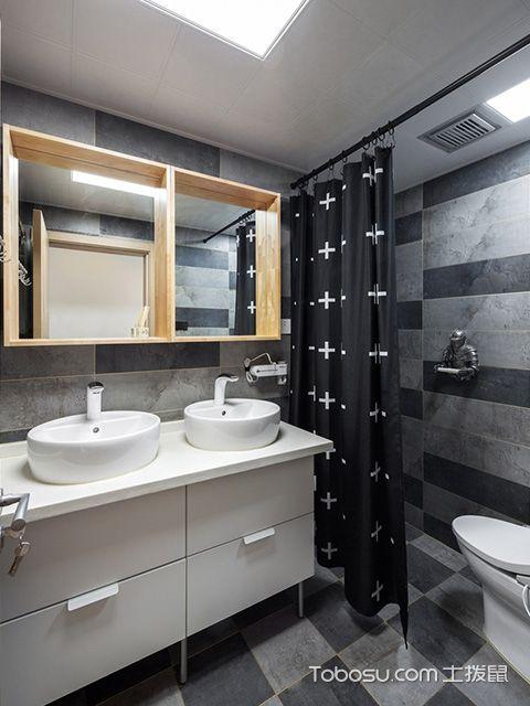100平方三房两厅装修图卫生间