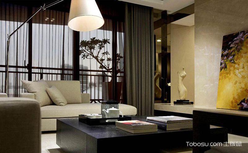 新中式客厅窗帘装修效果图,潮流的选择