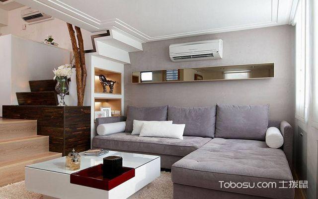 45平米复式二房一厅装修图客厅