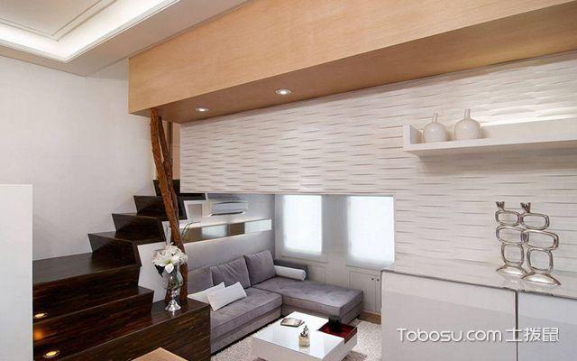 45平米复式二房一厅装修图空间设计