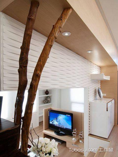 45平米复式二房一厅装修图过道
