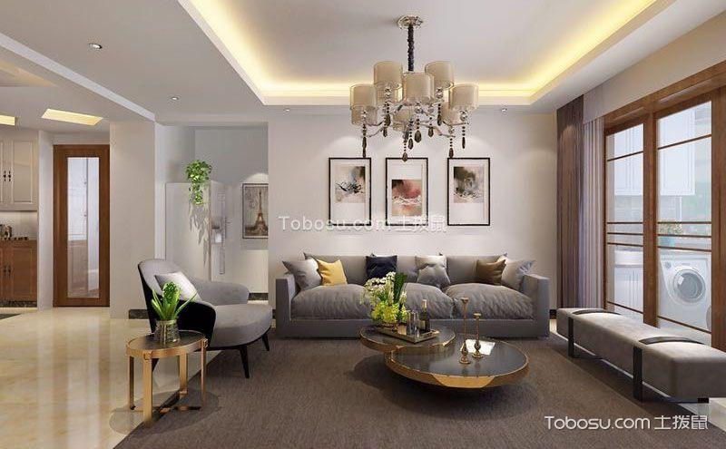 134平米现代风格装修三室一厅图片
