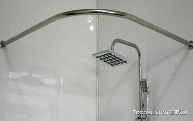 卫生间浴帘杆什么材质好图1