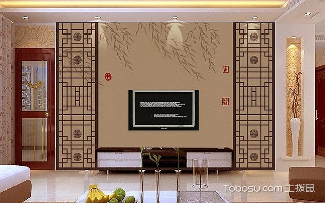 电视背景墙框金属