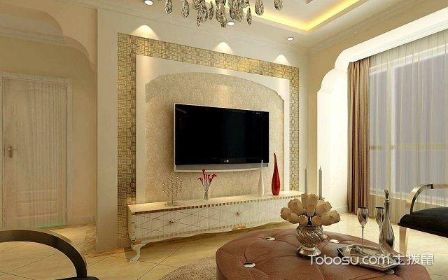 电视背景墙框木质