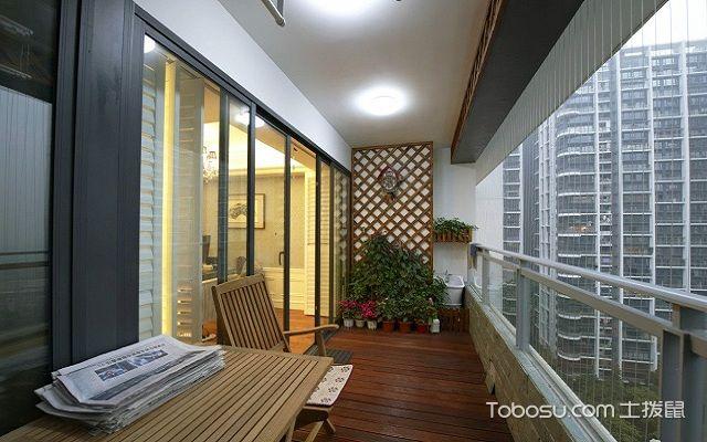 开放式阳台如何防雨窗帘
