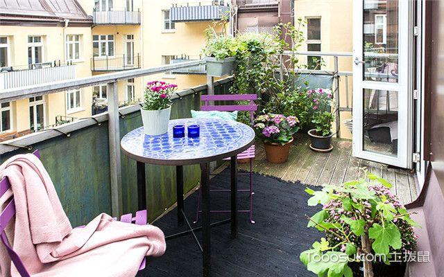 南京90平米旧房阳台装修