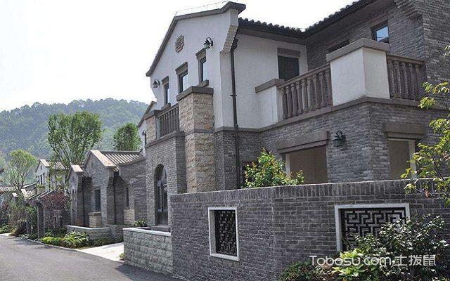 农村别墅外墙砖效果图灰砖