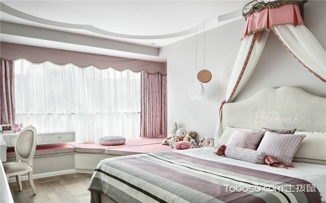 粉色系少女房间
