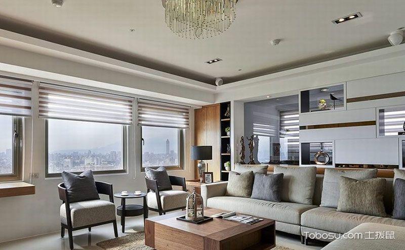 120平米三居室现代简约风格样板房