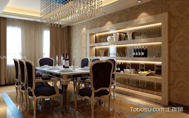 大户型家装餐厅墙纸怎么装修