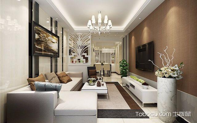 客厅墙布贴什么颜色咖啡色