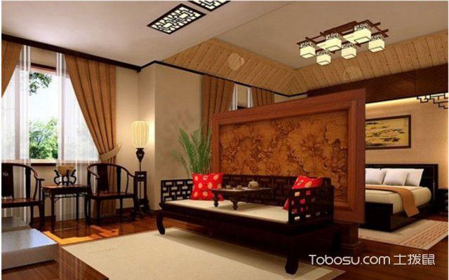 中式罗汉床摆放案例