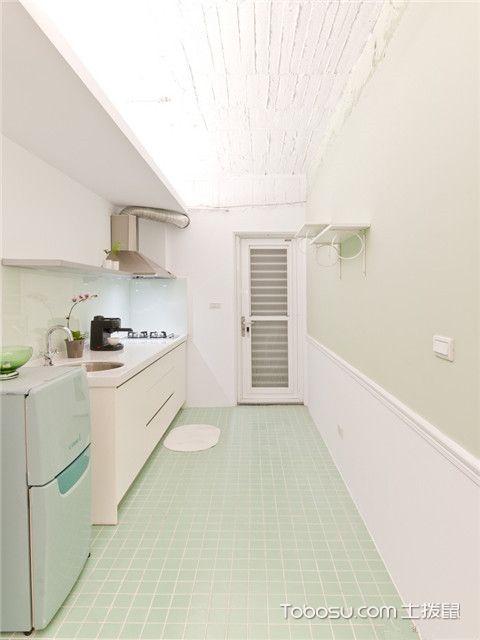 长方形厨房装修图片