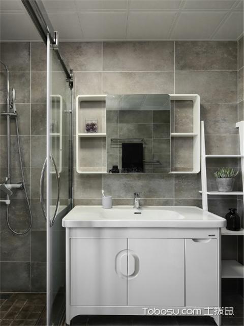 卫生间洗漱台镜子装饰效果图