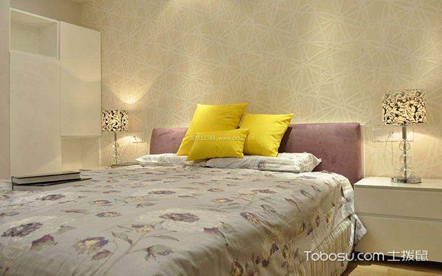 卧室墙布贴什么颜色好图2