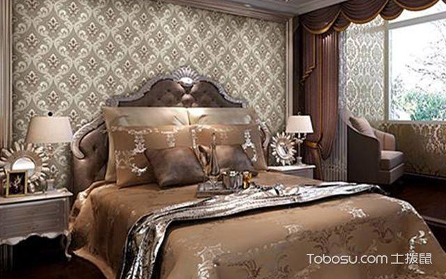 卧室墙布贴什么颜色好图3