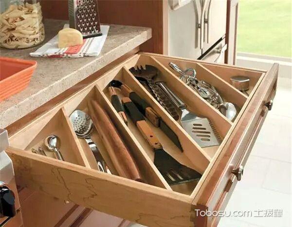 厨房橱柜抽屉收纳_土拨鼠装修经验