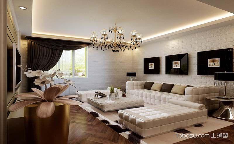 绚丽多姿客厅窗帘装修案例