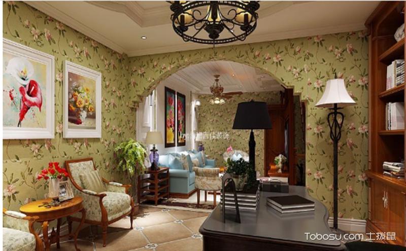 美式田园客厅装潢设计图,自然清新生活