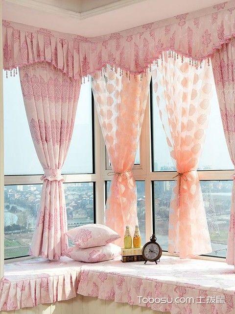 拐角飘窗窗帘怎么安装才方便