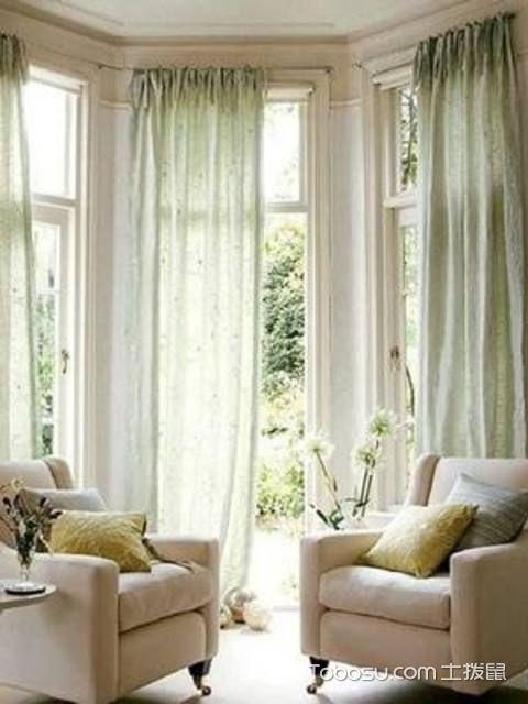 拐角飘窗窗帘怎么安装具体方法