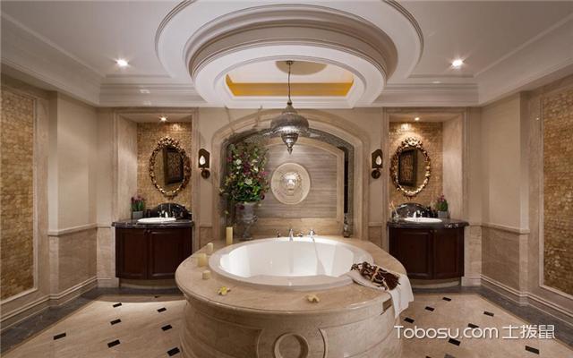 最新欧式别墅浴室装修效果图