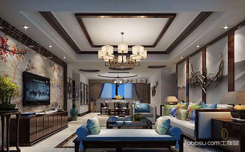 新中式风格吊顶效果图,完美诠释大气与高贵