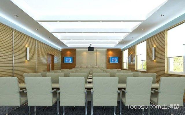 隔音吸音板安装会议室效果图