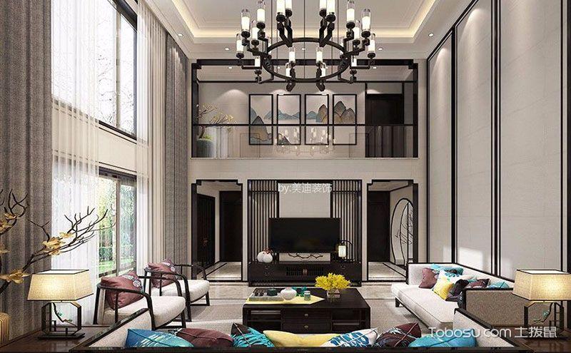 中式风格客厅挂画,让空间变得多姿多彩