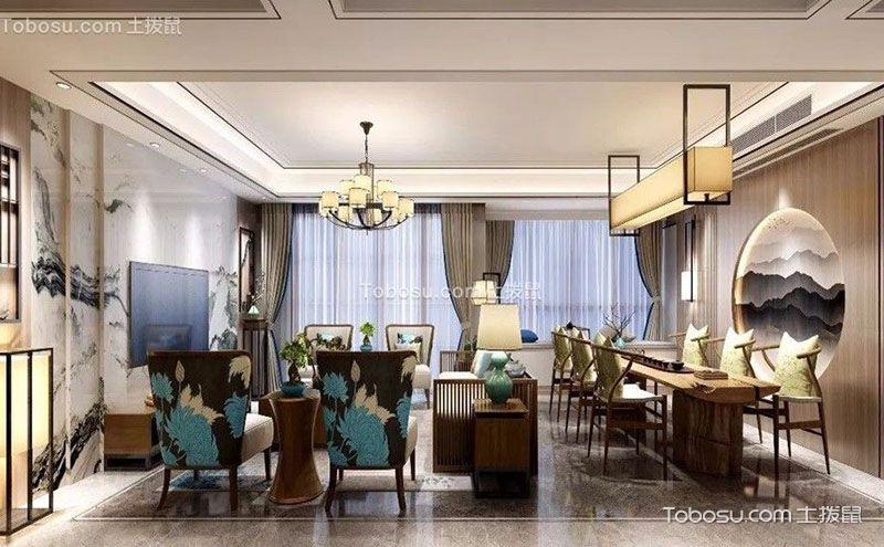 中式风格客厅装修图,古典艺术的全新演绎