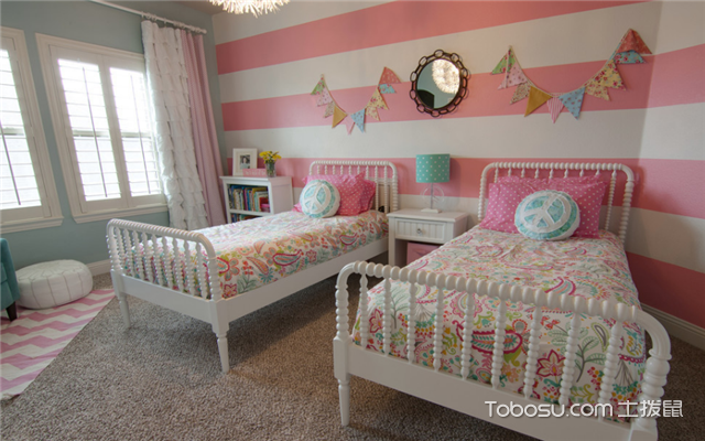双胞胎女童房间装修效果图