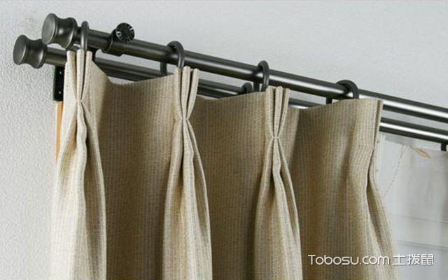 不打孔窗帘杆安装方法案例图3