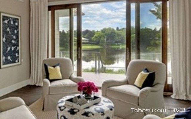 客厅全景落地窗效果图的欧洲简约风格