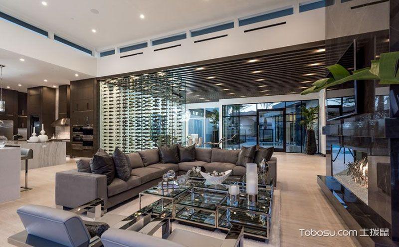 30平米客厅装修效果图,大气恢弘高贵质感