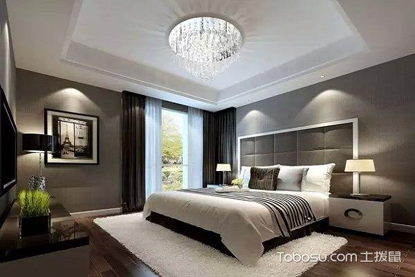 后现代黑白灰装修风格卧室