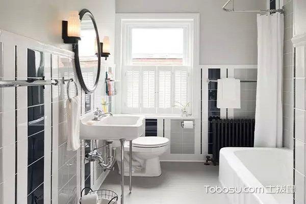 后现代黑白灰装修风格卫生间