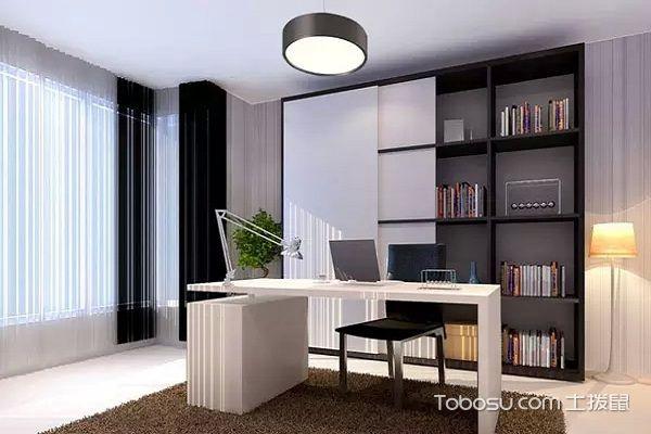 后现代黑白灰装修风格书房