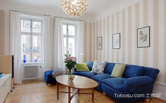 55平米北欧风格小户型客厅