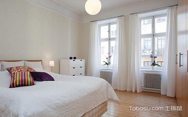 55平米北欧风格小户型卧室