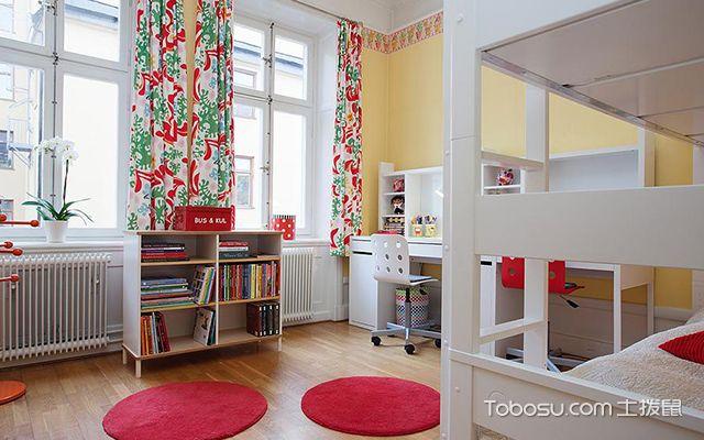 55平米北欧风格小户型儿童房