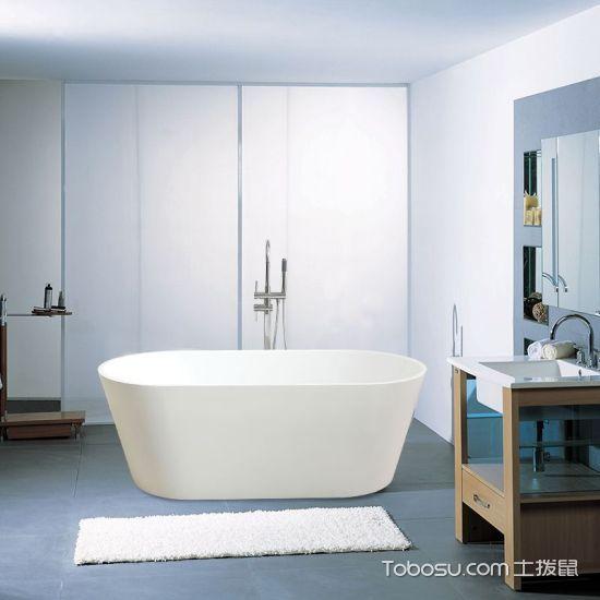 家用独立式浴缸图片高清_土拨鼠装修经验