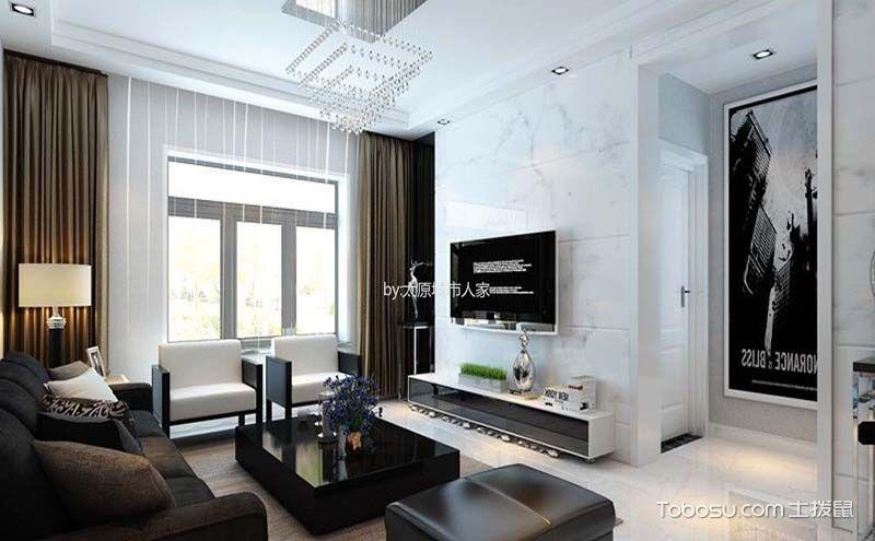 100平米三房一厅装修效果图,时尚又不失温馨感